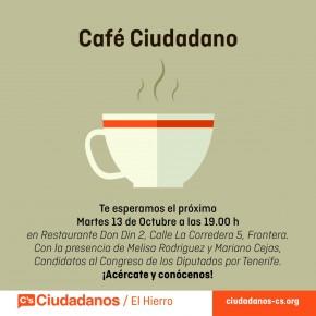 El Hierro acoge el primer 'café ciudadano' con los candidatos de C´s al Congreso por Santa Cruz de Tenerife