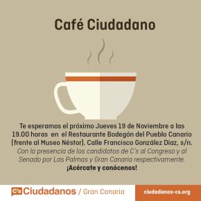 El Bodegón del Pueblo Canario abre sus puertas al 'café ciudadanos' con los candidatos al Congreso y al Senado