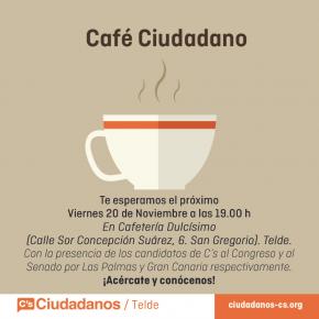 Telde y San Bartolomé de Tirajana se toman un 'café ciudadano' con los candidatos al Congreso y al Senado