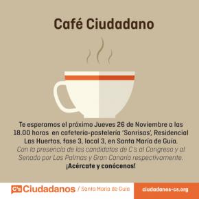 Santa María de Guía celebra un nuevo 'café ciudadano' con los candidatos al Congreso y al Senado