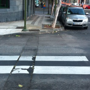Paso de Peatones en el distrito Salud-La Salle