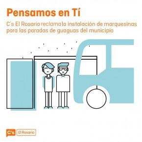 Ciudadanos reclama al Ayuntamiento de El Rosario que instale marquesinas en las paradas de guaguas del municipio