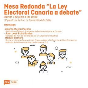 C´s Telde organiza una jornada sobre la reforma de la Ley Electoral Canaria