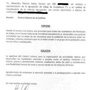 C´s insta al Ayuntamiento de Adeje a que se desarrolle actividades lúdicas para la población infantil y adolescente en el Centro Cultural de Armeñime