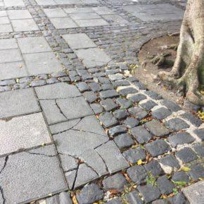 Cs denuncia la falta de acciones por parte del Ayuntamiento de La Laguna ante el mal estado de la plaza del Adelantado