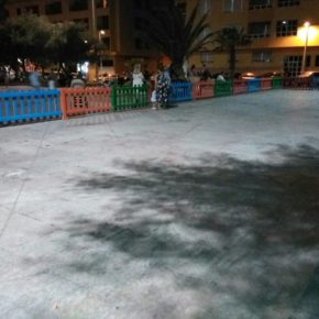 """Cs exige al Ayuntamiento de Granadilla instalar """"de una vez por todas"""" el parque infantil en la Plaza Roja en El Médano"""