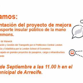 Ciudadanos presenta su proyecto de mejora sobre el transporte insular público en Lanzarote