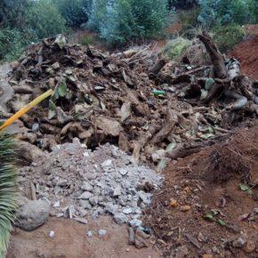 Cs en El Rosario denuncia la existencia de un vertedero ilegal junto a la depuradora abandonada en La Esperanza