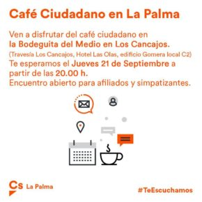 Cs celebra un 'café ciudadano' en Breña Baja