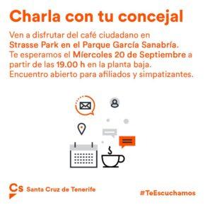 Ciudadanos acerca su acción política municipal en el Ayuntamiento de Santa Cruz de Tenerife a la ciudadanía tinerfeña
