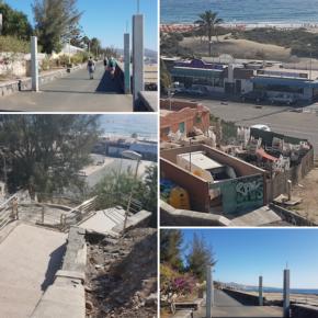 Ciudadanos denuncia el estado de abandono de algunas de las zonas más concurridas de Playa del Inglés