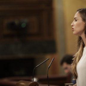 """Melisa Rodríguez (Cs): """"Los PGE incluyen una bajada de impuestos, recuperan el signo social, y traen más de 1.600 millones de euros para Canarias gracias a la negociación de Cs"""""""