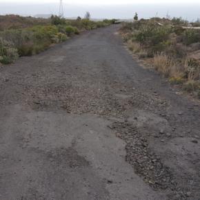 Cs denuncia el lamentable estado que presenta la carretera de acceso al parque recreativo El Contador desde Villa de Arico