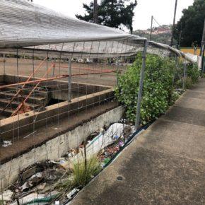 Cs consigue que el Ayuntamiento de Santa Brígida se comprometa a sustituir el vallado de la obra del 'mamotreto'