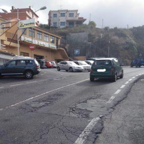 Ciudadanos denuncia el estado de abandono de la carretera de acceso a Tegueste desde la rotonda de Las Canteras