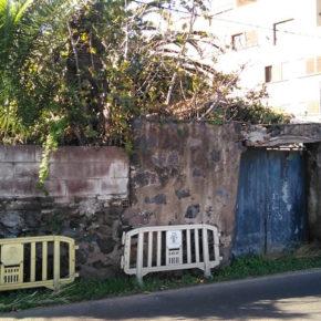 Cs exige al Ayuntamiento de Santa Úrsula que acabe con el riesgo de derrumbe que presenta el muro situado en la carretera general