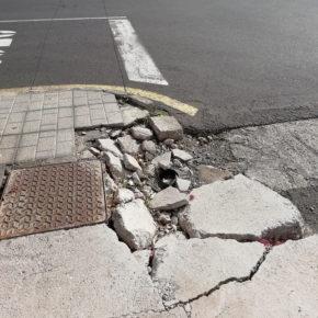 Ciudadanos reclama un plan de acondicionamiento de las calles y aceras de Puerto del Carmen