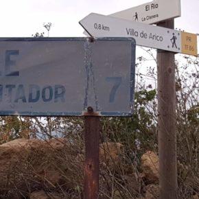 Ciudadanos exige al Ayuntamiento de Arico que acondicione la carretera de acceso al Parque Recreativo El Contador