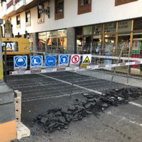 Cs denuncia la improvisación y la falta de diálogo del Ayuntamiento de Santa Cruz de La Palma con las obras de la zona comercial abierta