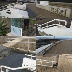 Ciudadanos denuncia la falta de mantenimiento y el deterioro del acceso y paseo de Playa Honda