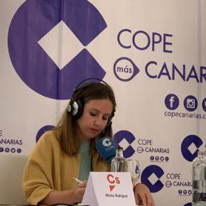 """Melisa Rodríguez (Cs): """"La sanidad es un derecho, no un capricho"""""""
