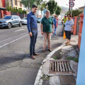 Ciudadanos denuncia los problemas de seguridad que existen en la vía de acceso a la Cruz de Los Álamos