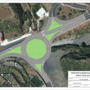 Cs pide que se instale una rotonda en la circunvalación de Santa Cruz de La Palma para mejorar la seguridad vial en el barrio de Benahoare