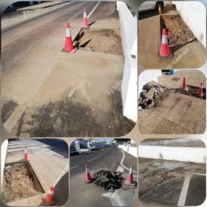 Ciudadanos exige al Ayuntamiento de Yaiza una solución definitiva a las roturas de tuberías en las calles de Uga