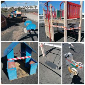 Ciudadanos denuncia el abandono de los parques infantiles en el municipio de Yaiza
