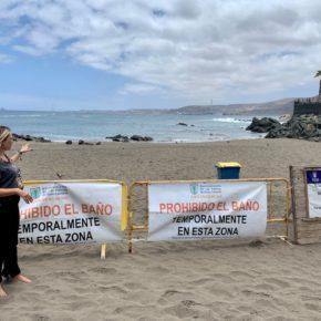 Lidia Cáceres (Cs) pide al tripartito que investigue el foco de contaminación de la playa de La Puntilla de San Cristóbal