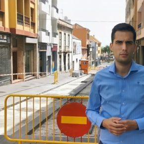 Juan Antonio Molina (Cs) celebra el inicio de las obras para la reapertura de la calle Herradores